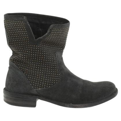 Fiorentini & Baker Wildleder-Boots in Grün