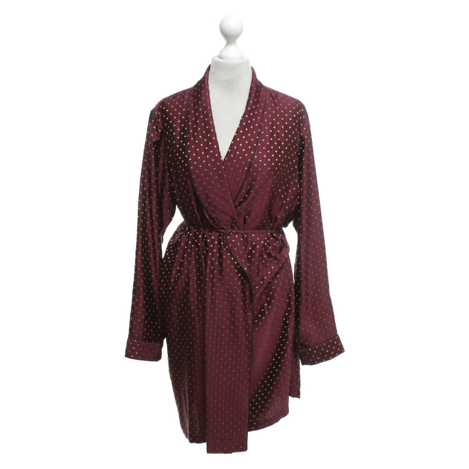 Dries van Noten Dressing gown with dots pattern - Buy Second hand ...