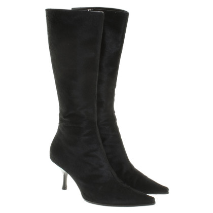 Sergio Rossi Pony bont laarzen in zwart