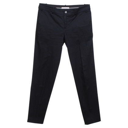Stefanel Business trousers in black / blue