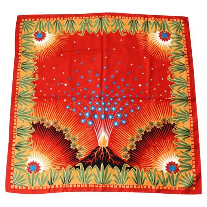 "Valentino sjaal Silk ""Volcano"""