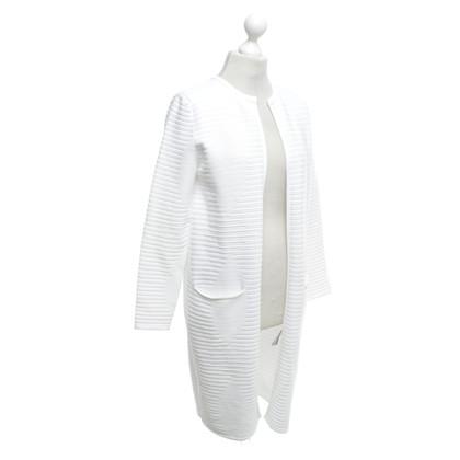 Hugo Boss Cappotto lavorato a maglia in bianco