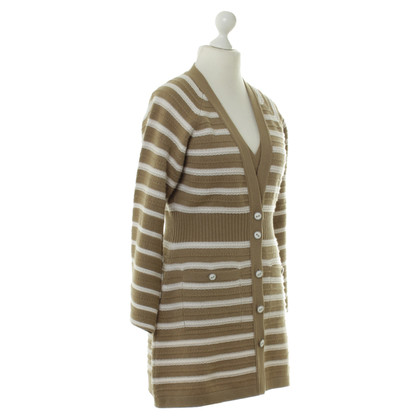 Chanel Striped cashmere jacket with top