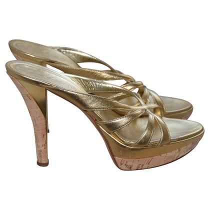 Casadei sandales d'or
