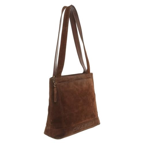 57c975f95881 Chanel Suede shoulder bag - Second Hand Chanel Suede shoulder bag ...