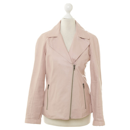Reiss Lederblazer in Rosé