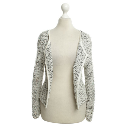 Marc Cain Knit Blazer in zwart / White