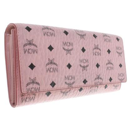 MCM Portemonnaie in Rosa