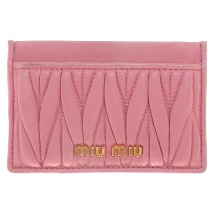 Miu Miu Card holder in pink