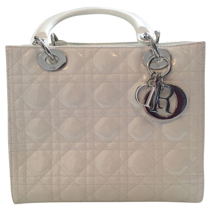"Christian Dior ""Lady Dior"" in vernice bianca"