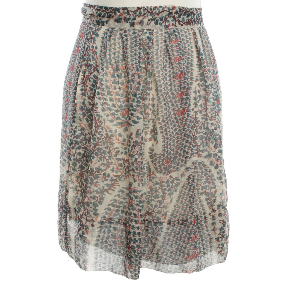 Isabel Marant Etoile Silk skirt with pattern