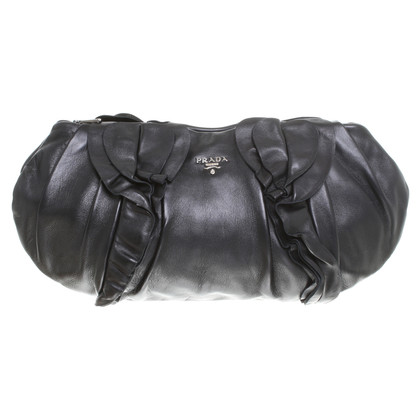 Prada clutch with ruffle details