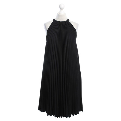 Max Mara Geplooide jurk in zwart