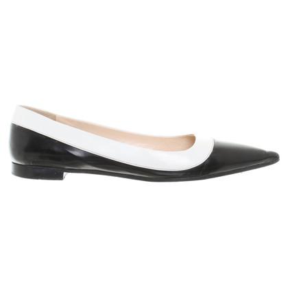 Prada Ballerina's in zwart / White