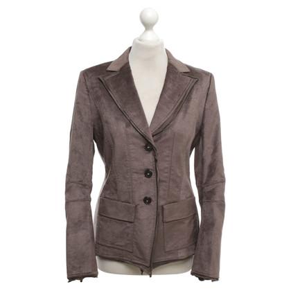 Luisa Cerano Velvet giacca taupe