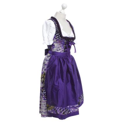 Basler Dirndl with violet print