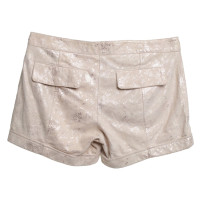 Patrizia Pepe Wildleder-Shorts in Beige