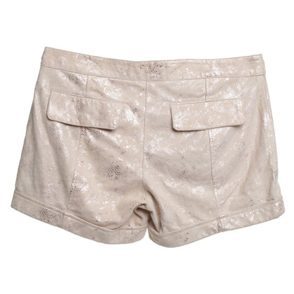 Patrizia Pepe Suede shorts in beige
