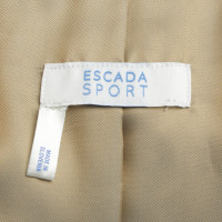 Escada Lederweste in Beige