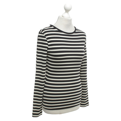 Moschino Striped shirt in black / beige