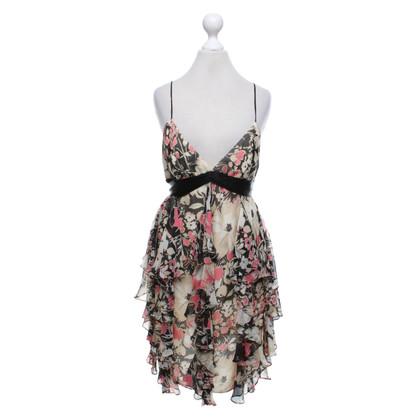 Milly zijden jurk met patroon