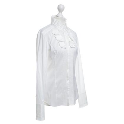 Hugo Boss Witte blouse met laken