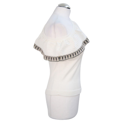 Maje One-Shoulder-Top in Weiß