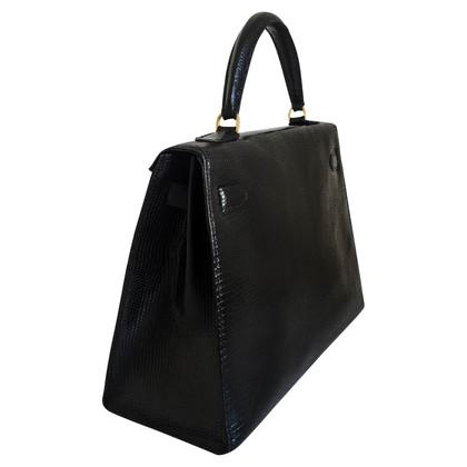 "Hermès ""Kelly Bag 32"" aus Eidechsenleder"