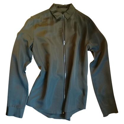 Balenciaga camicetta di seta con zip