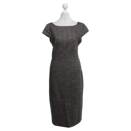 Max Mara Tweed-Kleid in Beige/Schwarz