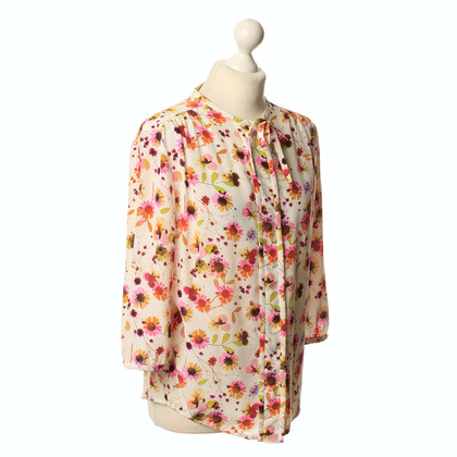 JOOP! Camicia in seta stampa floreale