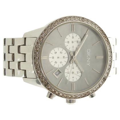 DKNY Clock in silver