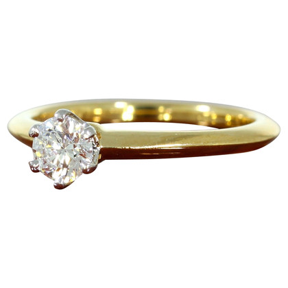 Tiffany & Co. Anello con diamante in oro giallo