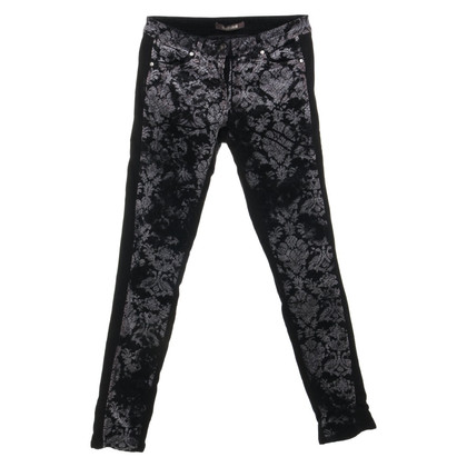 Roberto Cavalli Corduroy pants with print pattern