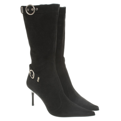 Luciano Padovan Suede boots in black