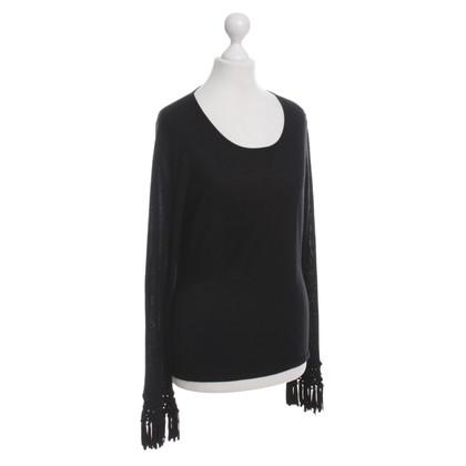 Rena Lange Fine knit sweater in black