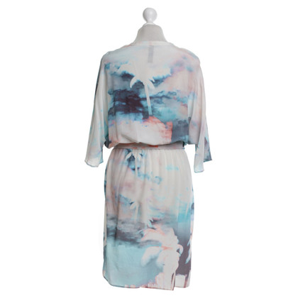 Marc Cain Silk dress with batwing sleeves