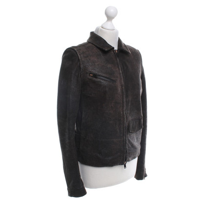 Maison Martin Margiela for H&M Lederjacke in Braun