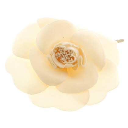 Chanel Camellia brooch in cream