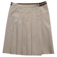 Prada Fold wrap skirt in beige