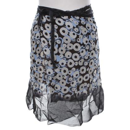 Philosophy di Alberta Ferretti Wrap skirt with print
