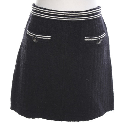 Chanel Knitted skirt in black / cream