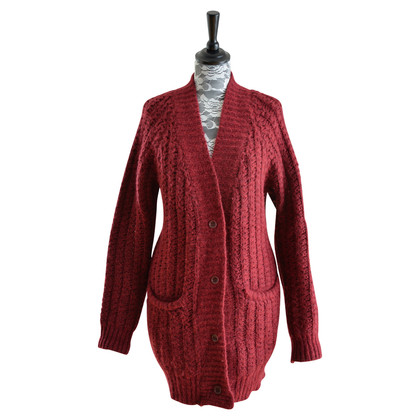 Gant Strickjacke in Weinrot