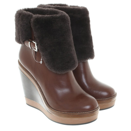 Armani Jeans Ankle Boots in Brown