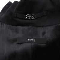 Hugo Boss Mantel in Schwarz/Metall