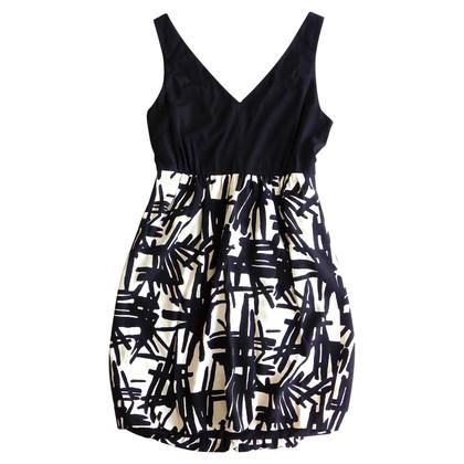 Tibi Gedrukte zijden jurk