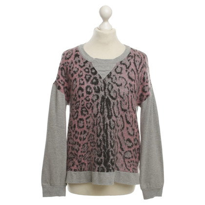 Marc Cain Cotton pullover with animal print