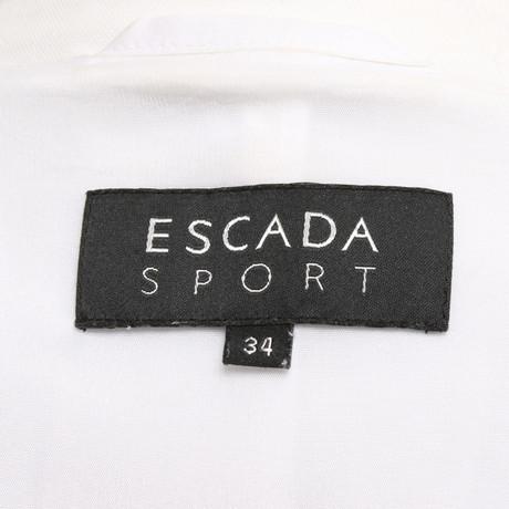 Verkauf Online-Shop Escada Klassischer Blazer Weiß Kosten Für Verkauf Billige Echte 6CBMXbnz7E