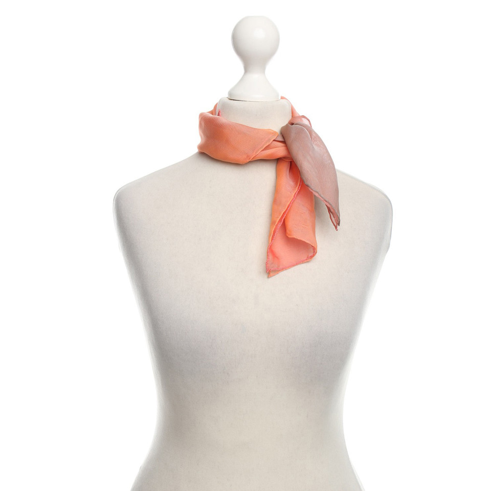 Loewe silk carré scarf in Apricot