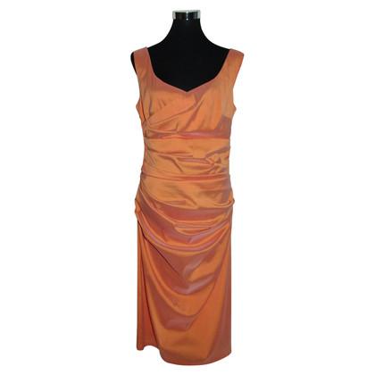 Talbot Runhof Apricotfarbenes Kleid aus Seide